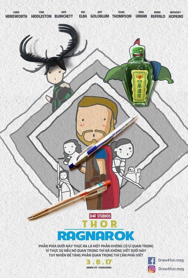 Художник створює кумедні постери з супергероями Marvel з підручних засобів - фото 321580