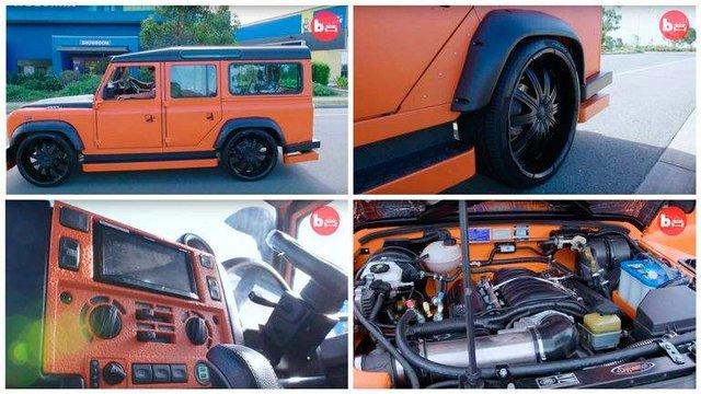 У мережі показали дивний тюнінг Land Rover Defender - фото 323482