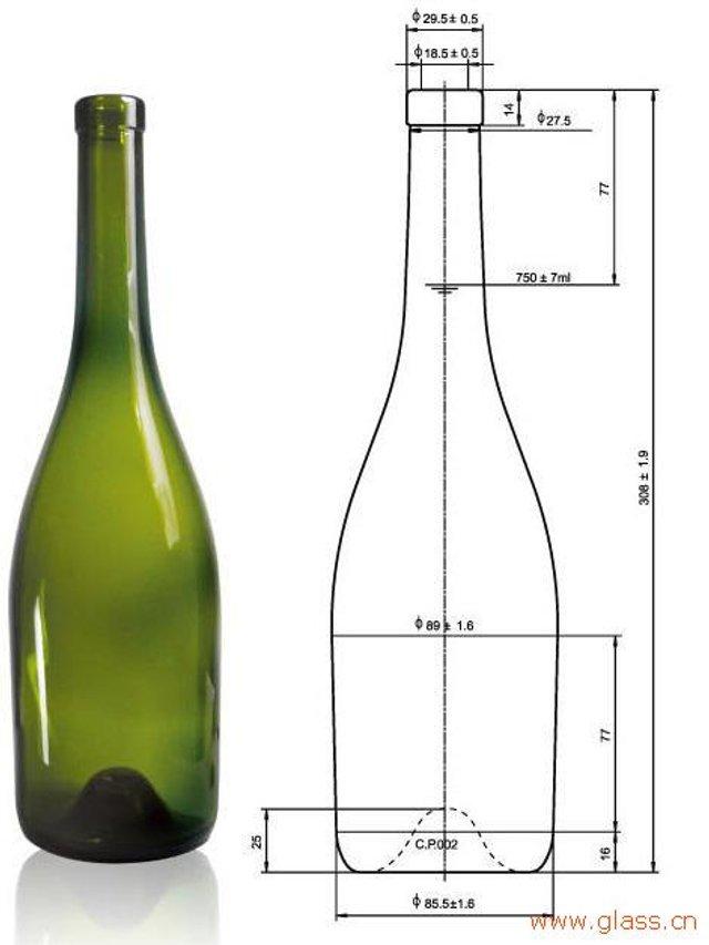 Стандартна пляшка вина  - фото 324275