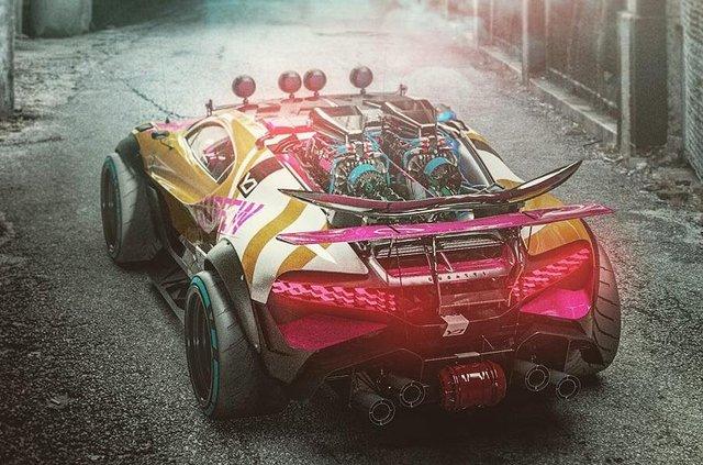 Bugatti Divo перетворили на позашляховик для апокаліпсиса - фото 325311