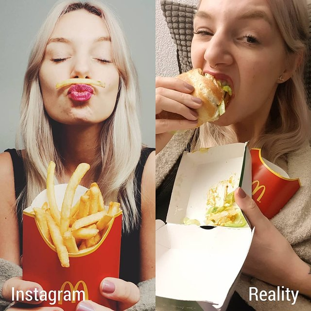Правда не красива: дівчина потролила типові фото Instagram - фото 326488