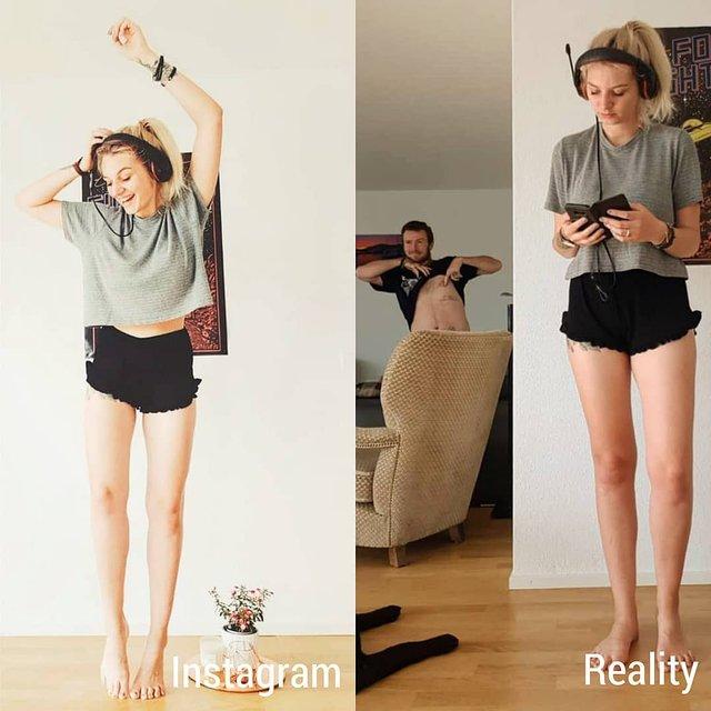 Правда не красива: дівчина потролила типові фото Instagram - фото 326489