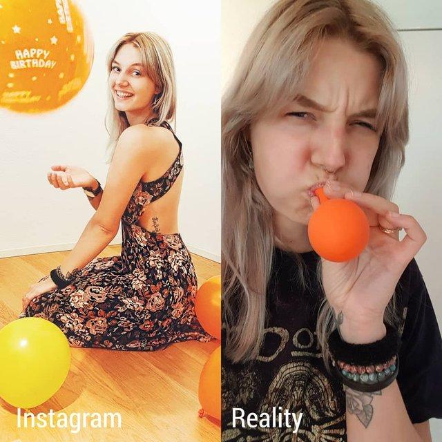 Правда не красива: дівчина потролила типові фото Instagram - фото 326493