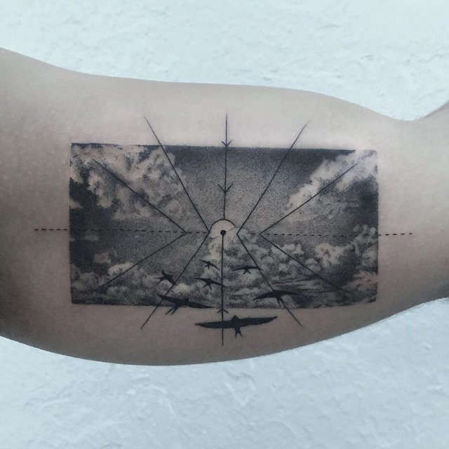 Геометричні тату від турецького майстра, які приковують погляд - фото 326630
