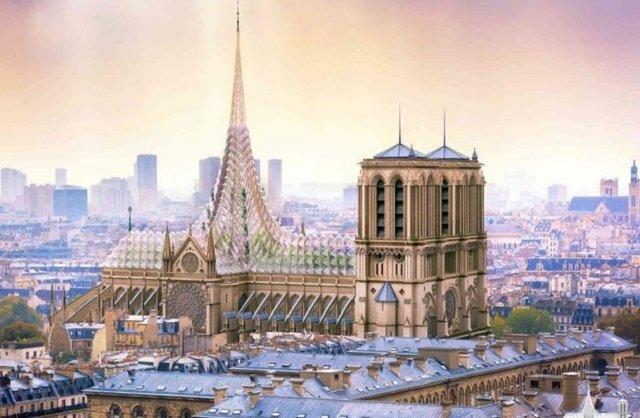 Нотр-Дам пропонують зробити зі скляним дахом: візуалізація - фото 327086