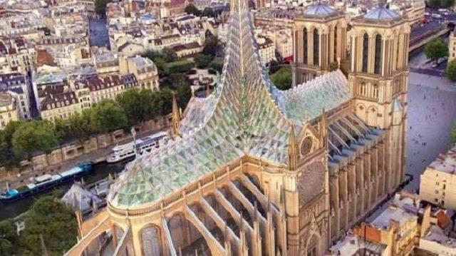 Нотр-Дам пропонують зробити зі скляним дахом: візуалізація - фото 327087
