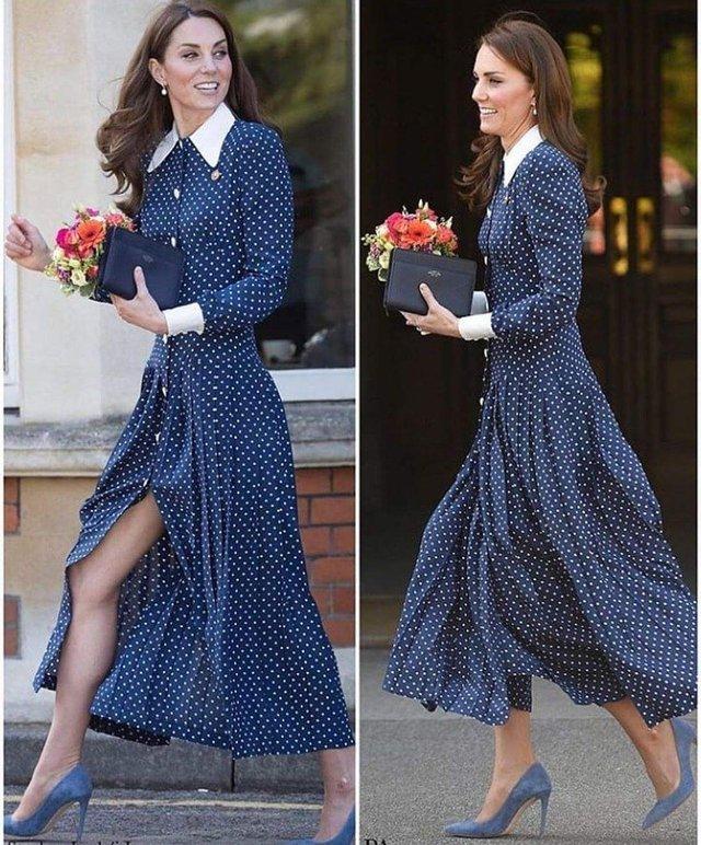 Кейт Міддлтон з'явилася у сукні з дуже глибоким розрізом - фото 327843