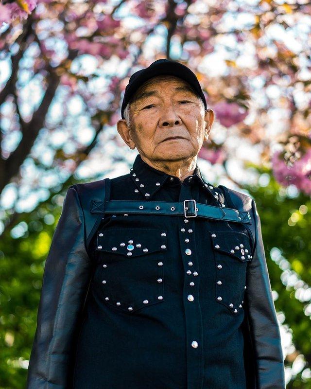 84-річний японець підкорив мережу своїм стилем (фото) - фото 328167