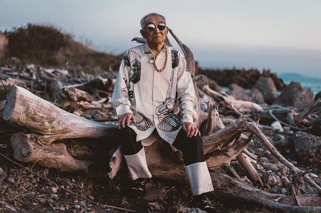 84-річний японець підкорив мережу своїм стилем (фото) - фото 328173