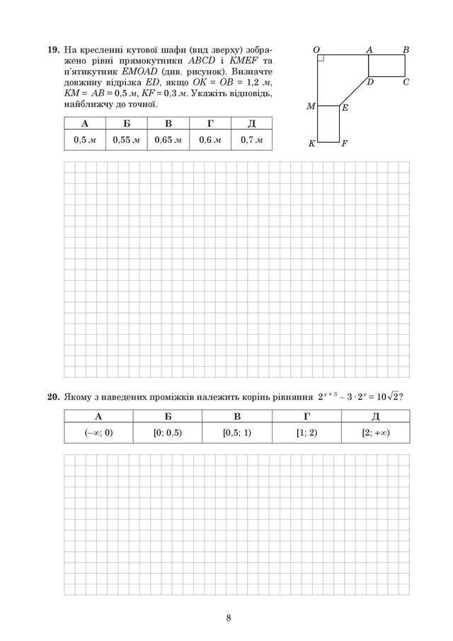 ЗНО 2019 з математики: оприлюднені завдання та задачі з тесту - фото 329204