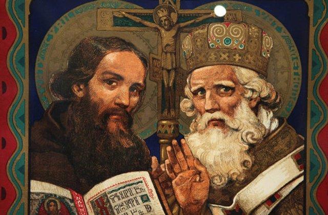 Кирило і Мефодій творці слов'янської азбуки  - фото 329715