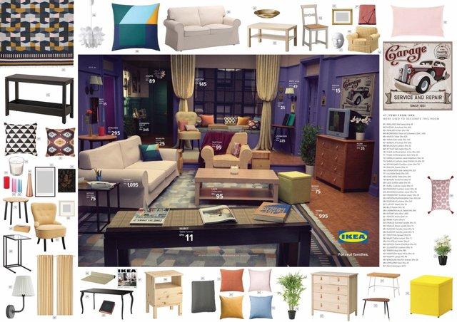 Друзі, Сімпсони та Дуже дивні справи: IKEA відтворила популярні інтер'єри з серіалів - фото 330829