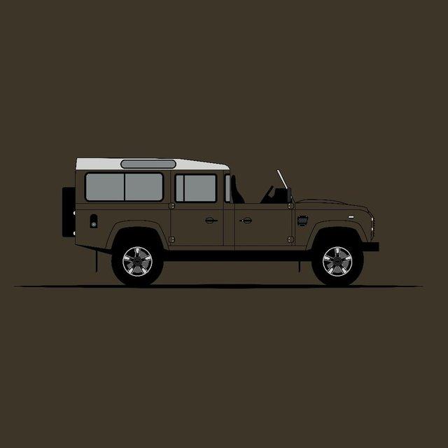Для фанатів Land Rover Defender: дизайнер показав понад три сотні крутих артів - фото 331219