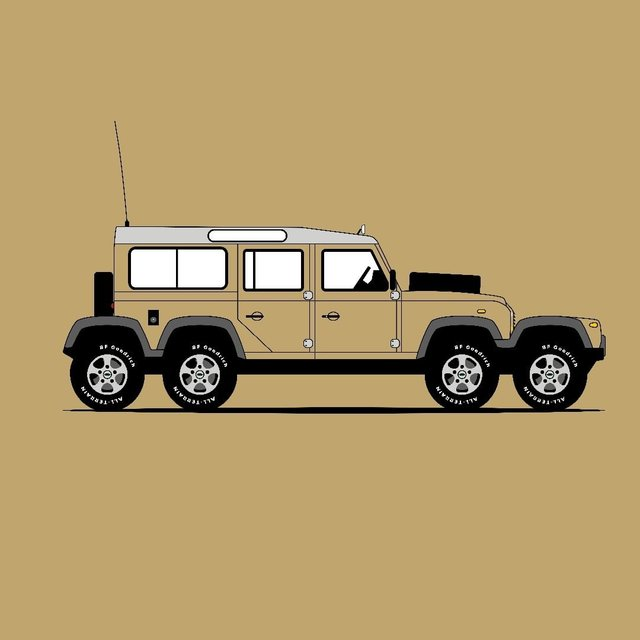 Для фанатів Land Rover Defender: дизайнер показав понад три сотні крутих артів - фото 331223