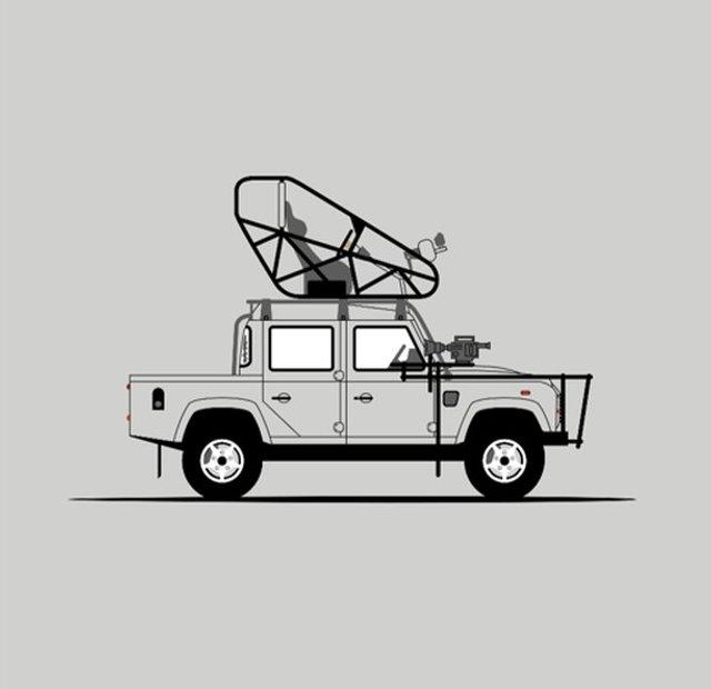 Для фанатів Land Rover Defender: дизайнер показав понад три сотні крутих артів - фото 331225
