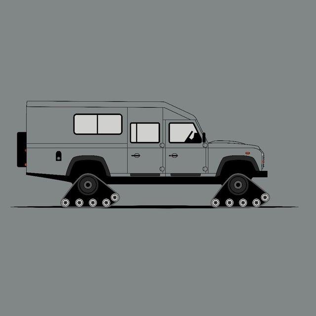 Для фанатів Land Rover Defender: дизайнер показав понад три сотні крутих артів - фото 331227