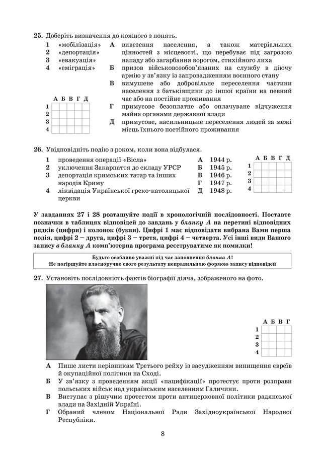ЗНО з історії України 2019: опубліковані завдання цьогорічного тесту - фото 331904