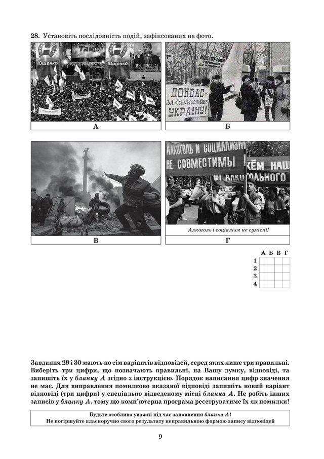 ЗНО з історії України 2019: опубліковані завдання цьогорічного тесту - фото 331905