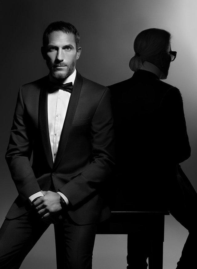 Охоронець Карла Лагерфельда став обличчям бренду Karl Lagerfeld - фото 332133