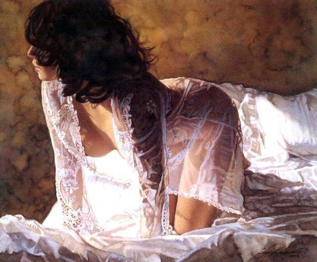Сексуальні дівчата, намальовані аквареллю - фото 333036