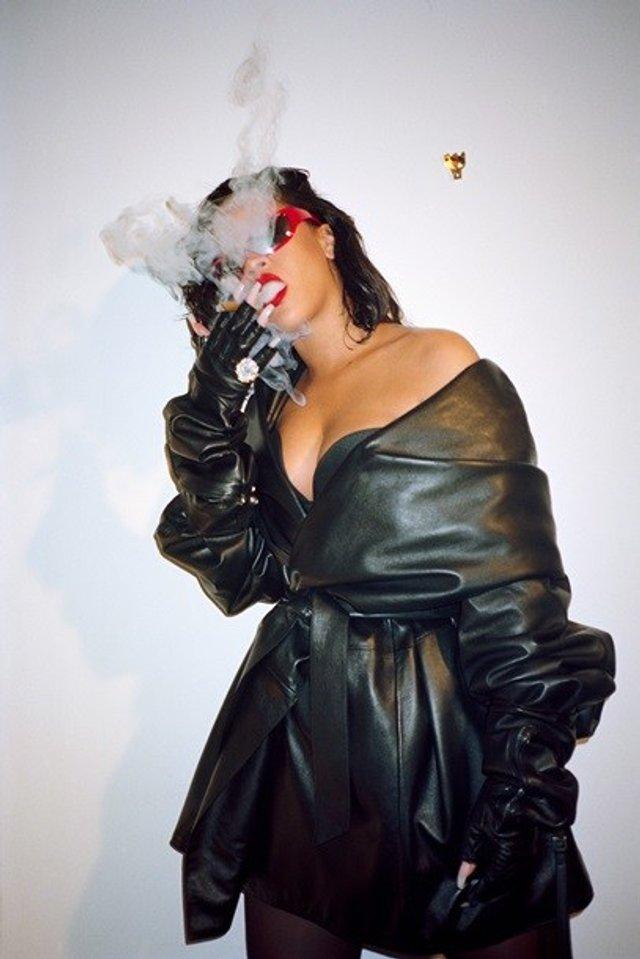 Rihanna показала пишні форми у леопардовому комбінезоні - фото 333514