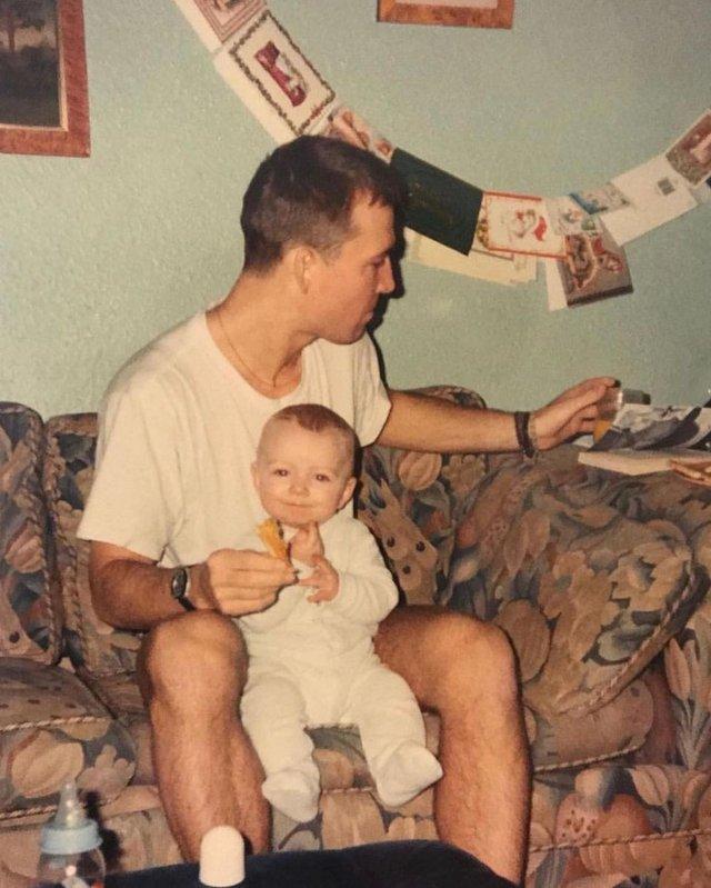 Сем Сміт виклав раритетне фото з батьком - фото 334741