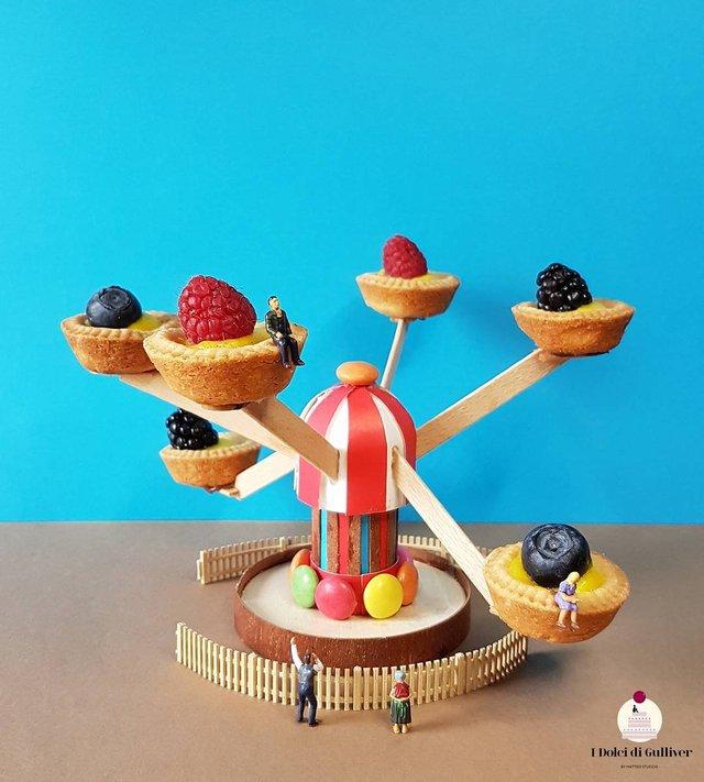 Кондитер перетворює десерти в мініатюрні світи: смачні знімки - фото 334953