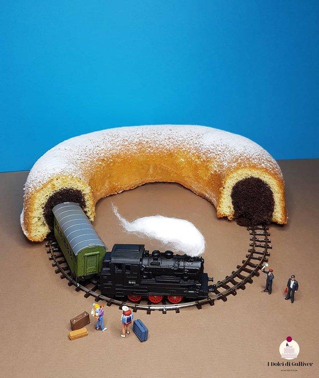 Кондитер перетворює десерти в мініатюрні світи: смачні знімки - фото 334956