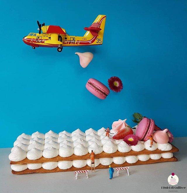 Кондитер перетворює десерти в мініатюрні світи: смачні знімки - фото 334957