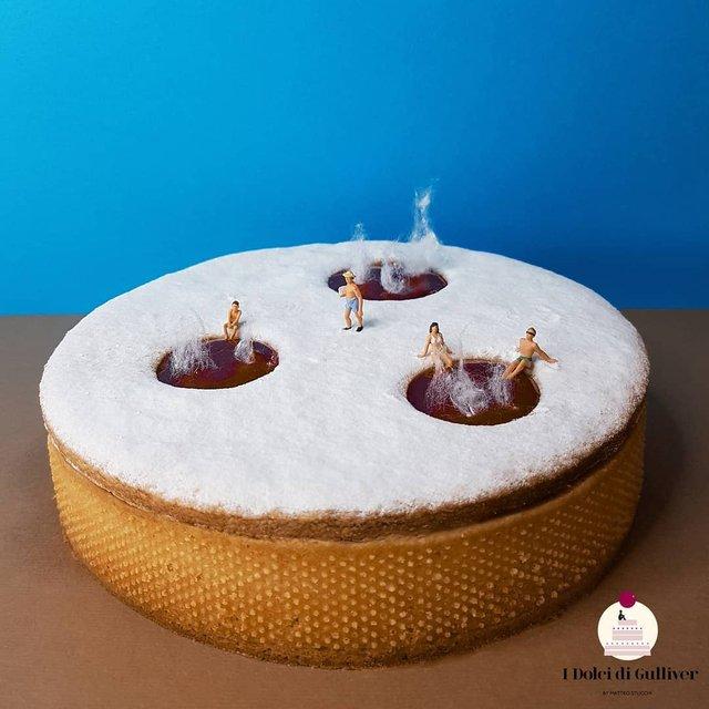Кондитер перетворює десерти в мініатюрні світи: смачні знімки - фото 334971