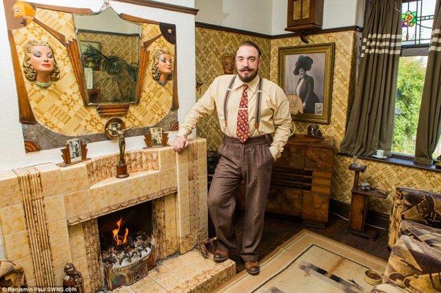 Британець трансформував свою квартиру у стилі 1930-х років - фото 335855