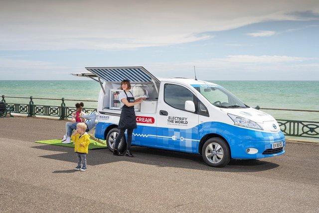 Nissan зробив електричний фургон для морозива - фото 336018