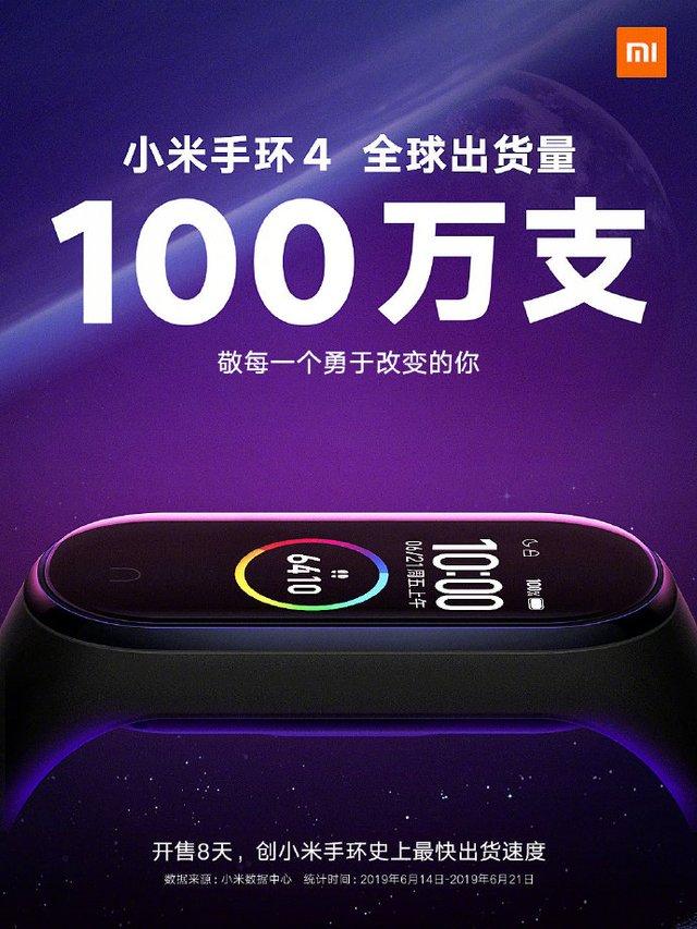 Xiaomi за 8 днів продали мільйон Mi Band 4 - фото 336139