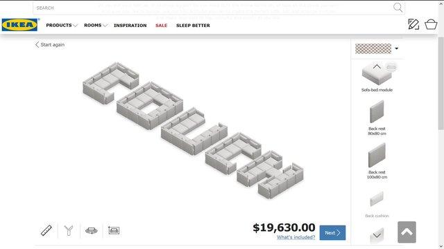 На сайті IKEA можна спроектувати власні меблі, але щось пішло не так - фото 336221