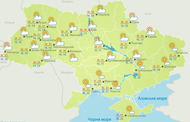 Погода в Україні 26 червня: де буде найспекотніше - фото 336387