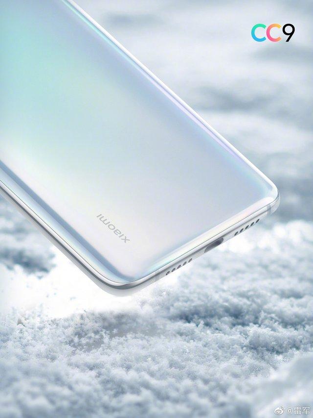 Романтичний білий: Xiaomi показала перше зображення смартфона Mi CC9 - фото 336529
