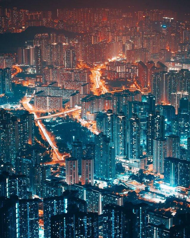 Нічна прогулянка Гонконгом, від якої важко відвести погляд: фото - фото 336543
