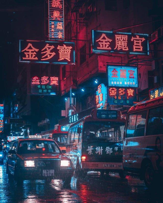 Нічна прогулянка Гонконгом, від якої важко відвести погляд: фото - фото 336550