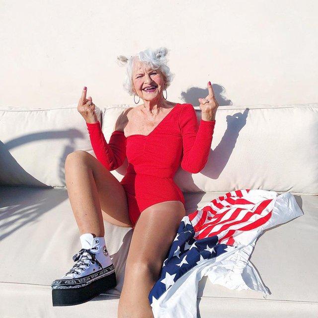 90-річна бабуся підкорила Instagram своїм виглядом - фото 336588