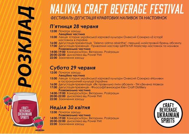 Розклад фeстивалю Nalivka Craft Beverage Festival - фото 336640