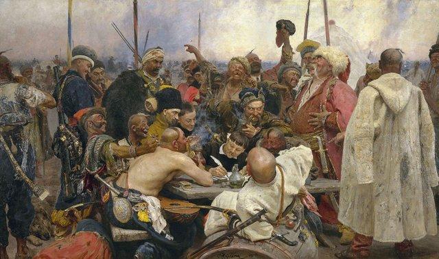 Картина Рєпіна, як запорожці пишуть листа турецькому султану - фото 338003