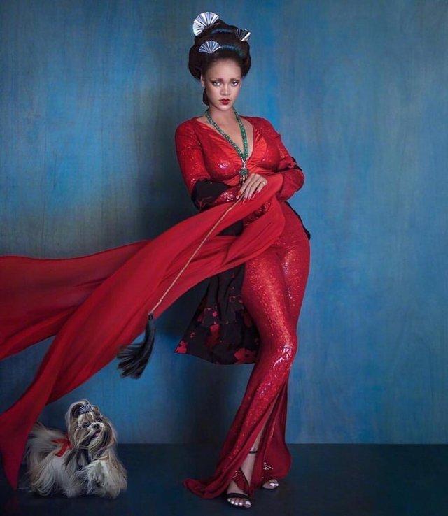 Справжня гейша: Rihanna знялася для глянцю у незвичному для себе образі - фото 339860