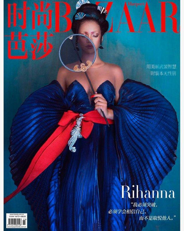 Справжня гейша: Rihanna знялася для глянцю у незвичному для себе образі - фото 339861