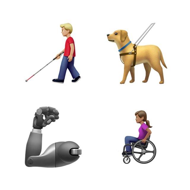 Apple представила емодзі, присвячені людям з інвалідністю - фото 341556