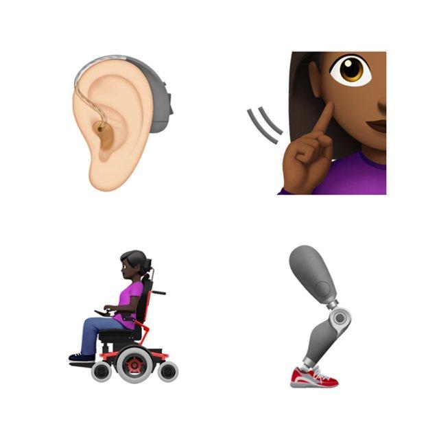 Apple представила емодзі, присвячені людям з інвалідністю - фото 341557