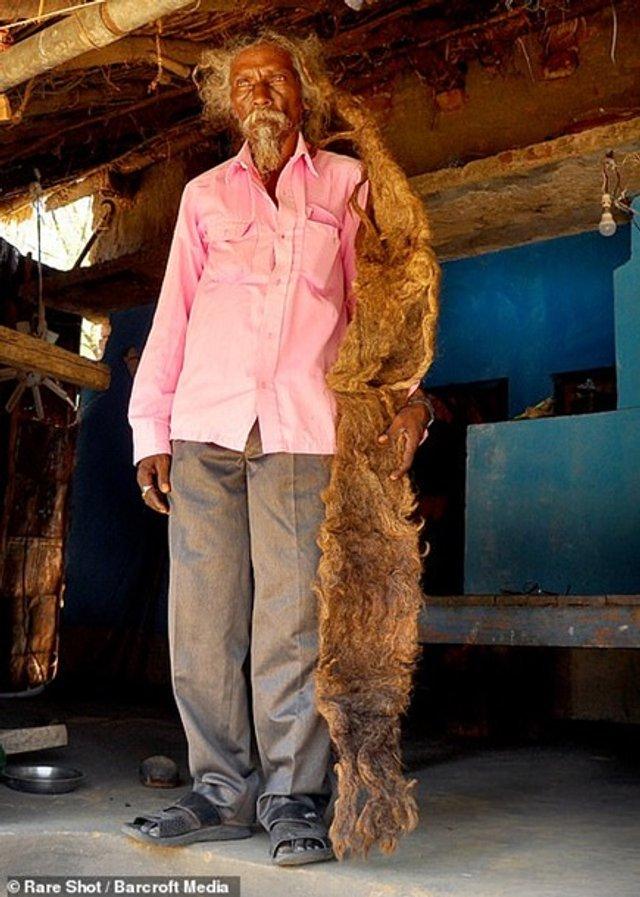 Житель Індії 40 років не стриг і не мив волосся (фото) - фото 341869