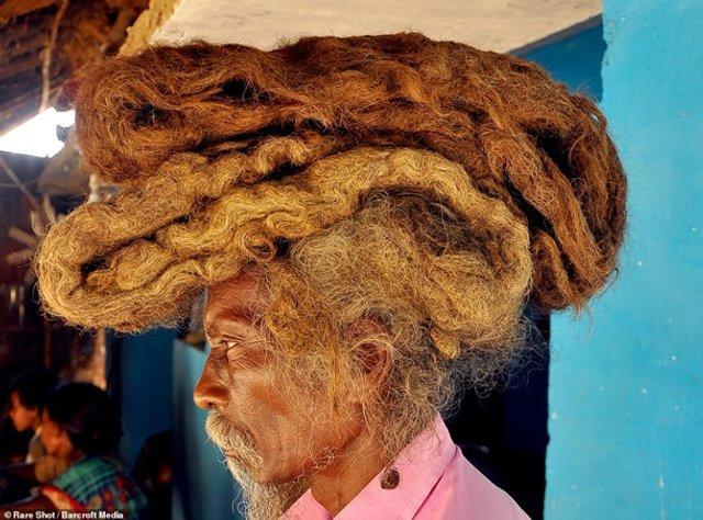 Житель Індії 40 років не стриг і не мив волосся (фото) - фото 341871