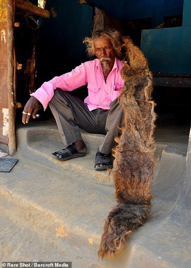 Житель Індії 40 років не стриг і не мив волосся (фото) - фото 341873