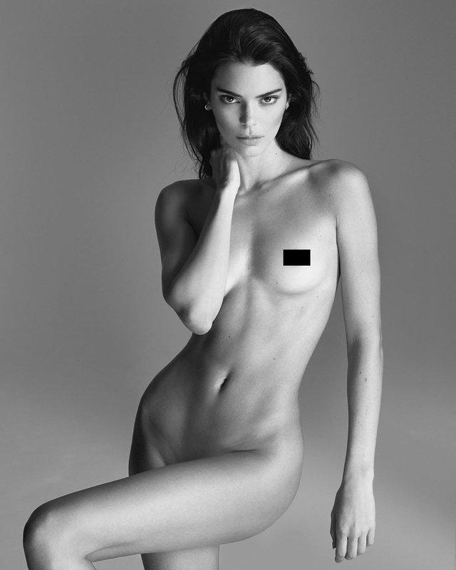 Модель Кендалл Дженнер вразила абсолютно голими фото (18+) - фото 342325