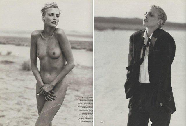 Моделі 90-х: як змінилася володарка карколомних ніжок Надя Ауерман (18+) - фото 342666